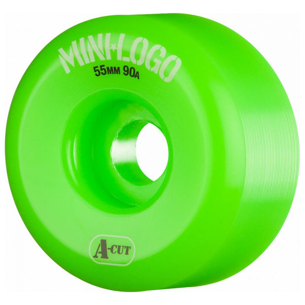 Mini Logo Wheels A-Cut 55 90a Hybrid Green 55mm
