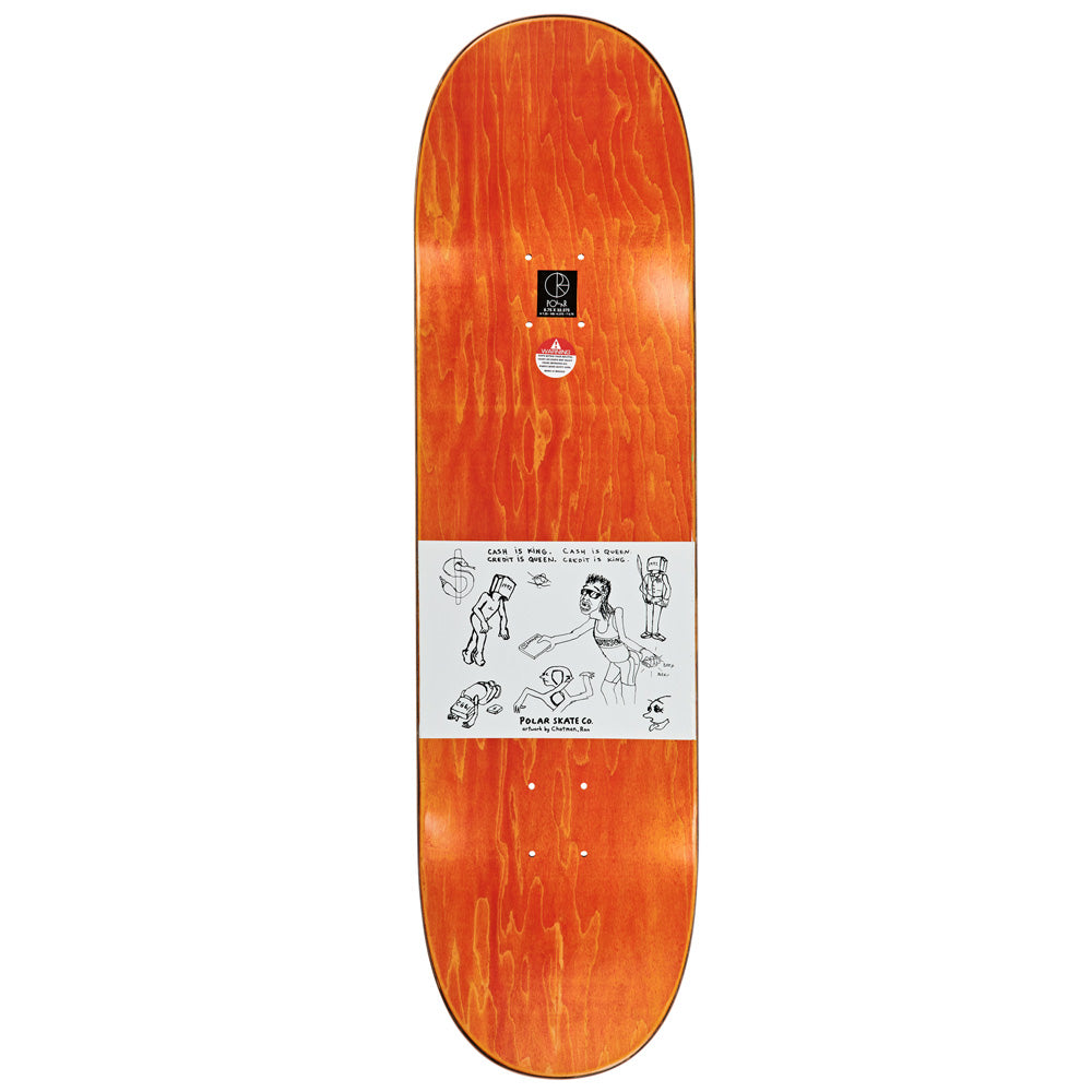 "Polar Skate Co Nick Boserio Cash Is Queen deck. 8.75"" wide."