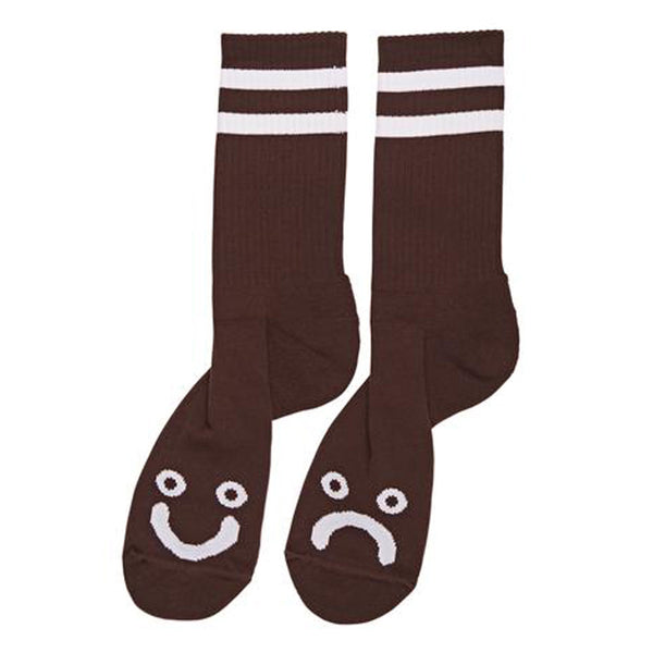 Polar Skate Co Happy Sad Socks Brown