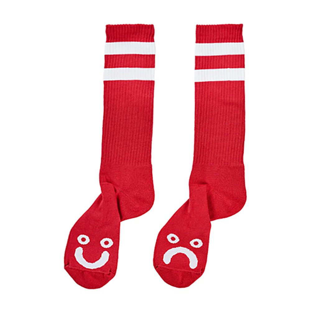 Polar Skate Co Happy Sad Socks Red