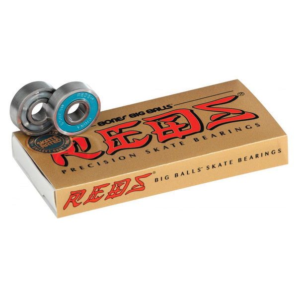 Bones Bearings Big Balls Reds Skateboard Bearings.
