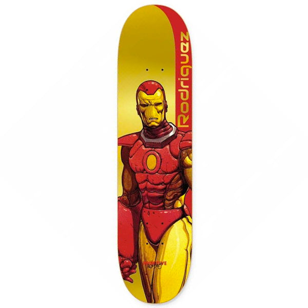 "Primitive Paul Rodriguez Iron Man deck. 8.125"" wide"