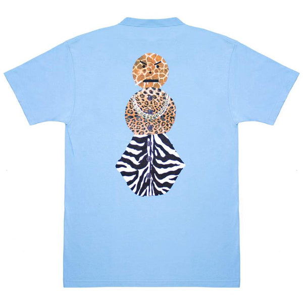 Quarter Snacks Safari Snackman Charity T-shirt carolina blue