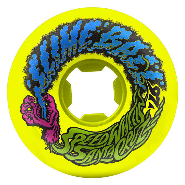 Santa Cruz Slime Balls Mini Vomits 97A Neon Yellow 54 MM