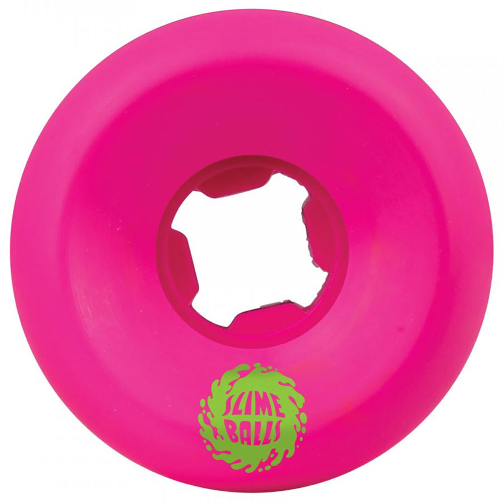 Santa Cruz Wheels Slime Balls Mini Vomits 97A Neon Pink 54 MM Back