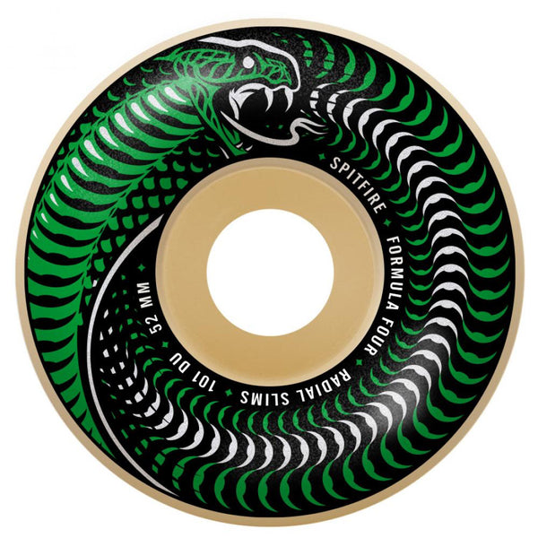 Spitfire Wheels Formula Four Venomous Radial Slim Wheels 101a Size 51mm