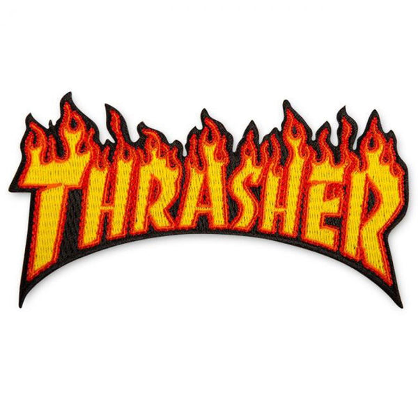 Thrasher Magazine Flame Logo patch.
