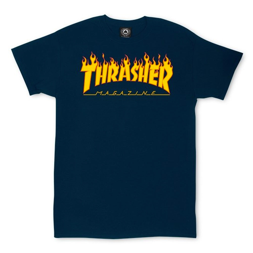 Thrasher Magazine Flame Logo T Navy