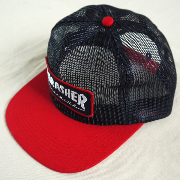 Thrasher Magazine Patch Mesh Cap. Full mesh crown.