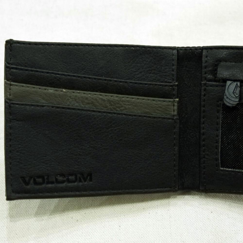 Volcom Clothing Slimstone Wallet Military Interior Detail