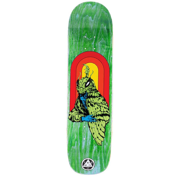 "Welcome Skateboards Mothman on Bunyip deck. 8"" wide."