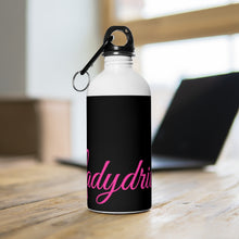 Ladydriven Black/Pink Stainless Steel Water Bottle