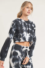 Load image into Gallery viewer, Tie Dye Cropped Sweatshirt