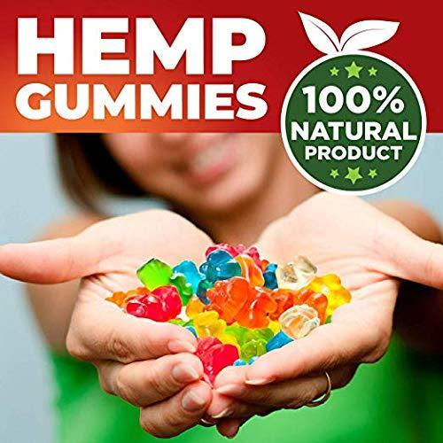 Hemp Blueberries Gummies 1000 mg - 30 Count | Full Spectrum Organic Hemp Extract Isolate | Relaxing, Relief from Pain, Stress, and Anxiety | Sleep Better