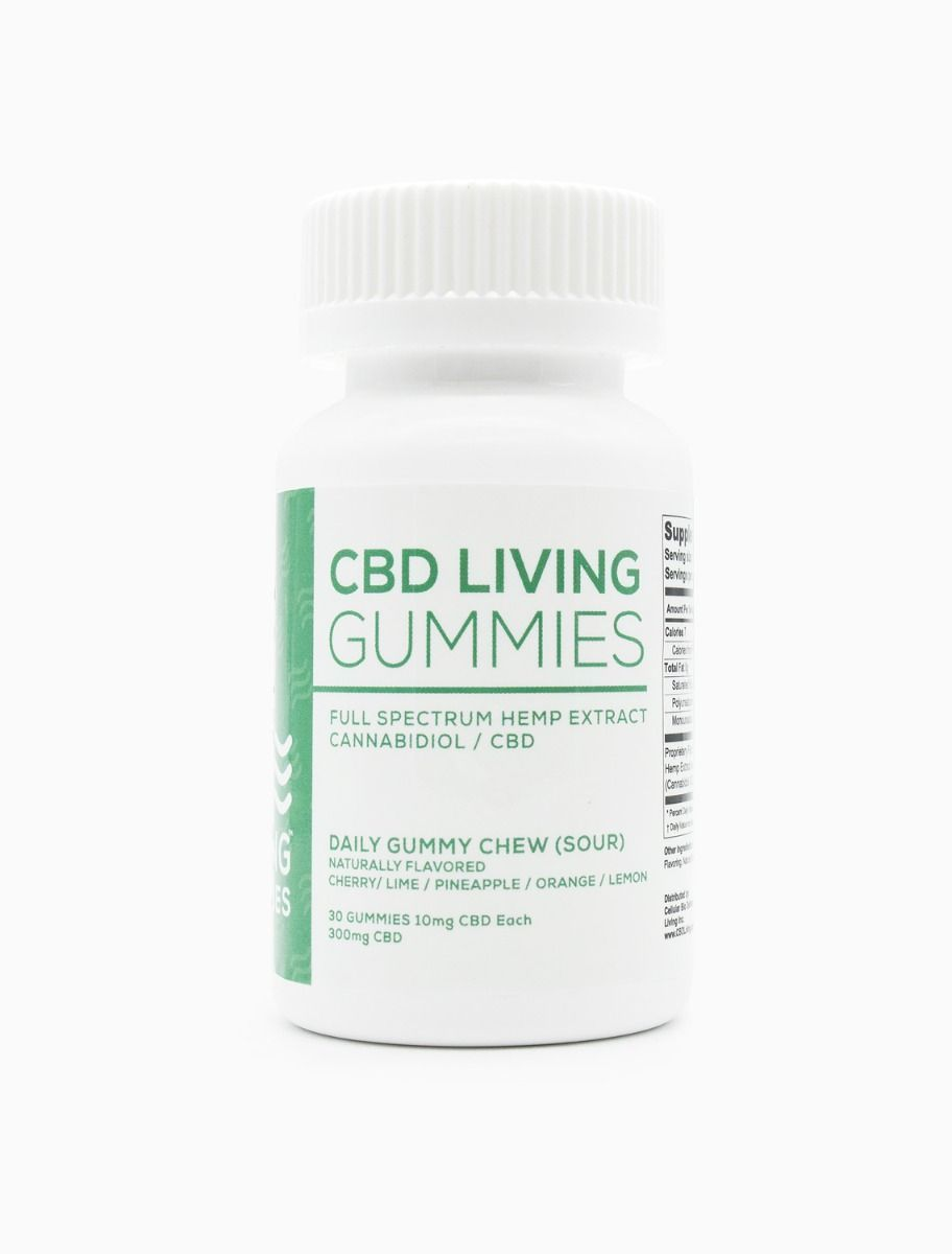 CBD Living Sour Gummies Bottle