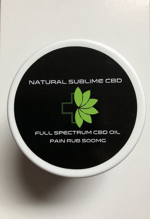 Natural Sublime 500mg CBD Full Spectrum Oil Pain Cream Balm Rub 2oz