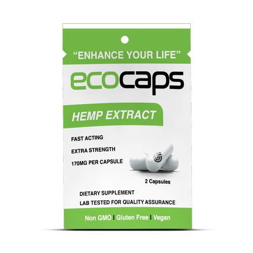 ECOCAPS Hemp Extract Travel Pack (25 Count)