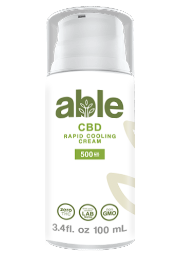 ABLE CBD Topical Rapid Cooling Cream 500mg - ZERO THC