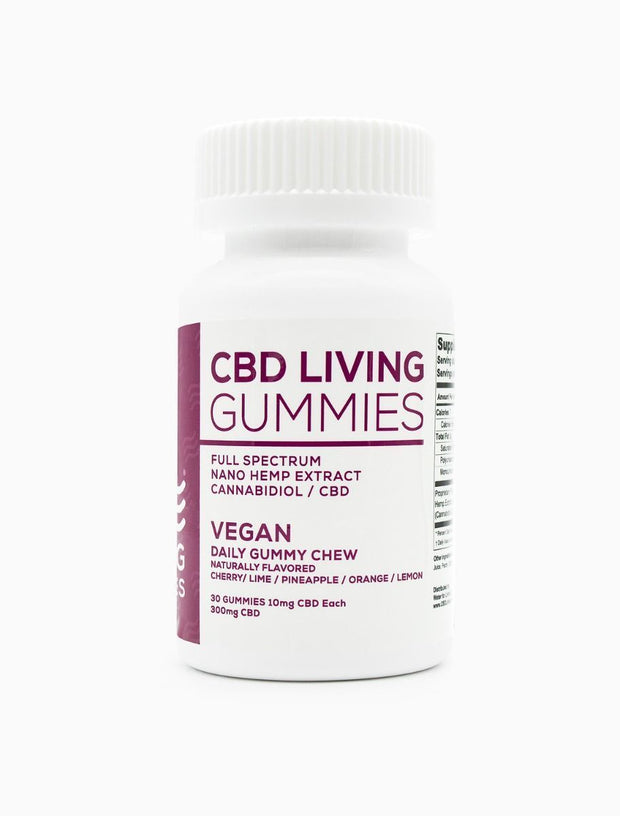 CBD Living Vegan Gummies Bottle