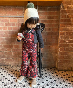 Scorpion Rose Print Kids Jumpsuits