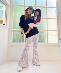 Scorpion Rose Print Adult Flare Pants