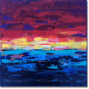 SUNRISE ONE - 24 in x 24 in (61 cm x 61 cm)