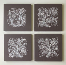 GLOWING FLOWERS COLLECTION - 10 in x 10 in (25.4 cm x 25.4 cm)