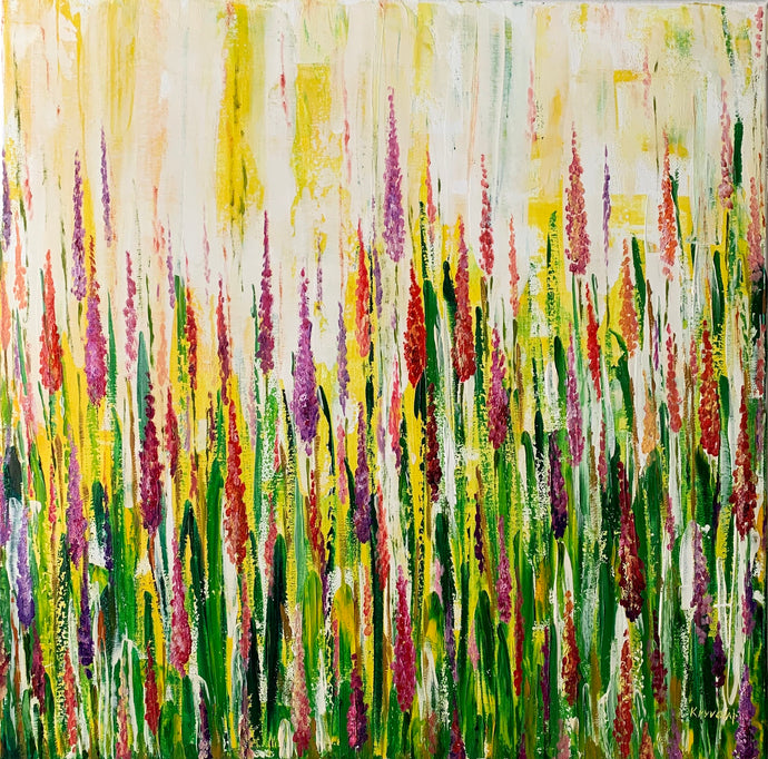 BLOOMING GRASS - 24 in x 24 in (61 cm x 61 cm)