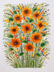 SUNNY MEADOW TWO - 18 in x 24 in (45.7 cm x 61 cm)