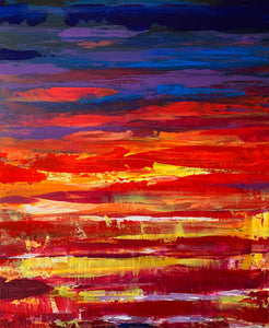 SUNRISE THREE - 20 in x 24 in (50.8 cm x 61 cm)