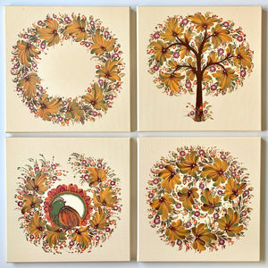 FALL QUARTET - 12 in x 12 in (30.4 cm x 30.4 cm)