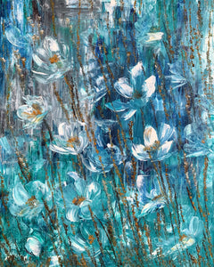 TURQUOISE DREAMS  - 18 in x 24 in (45.7 cm x 61 cm)