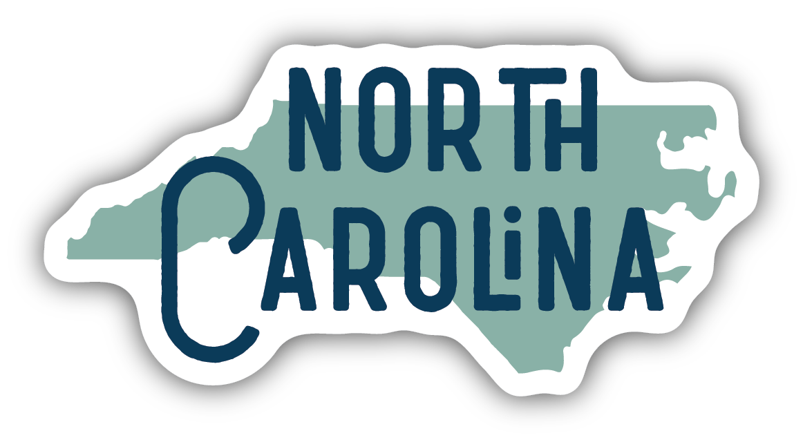 Blue North Carolina State Sticker