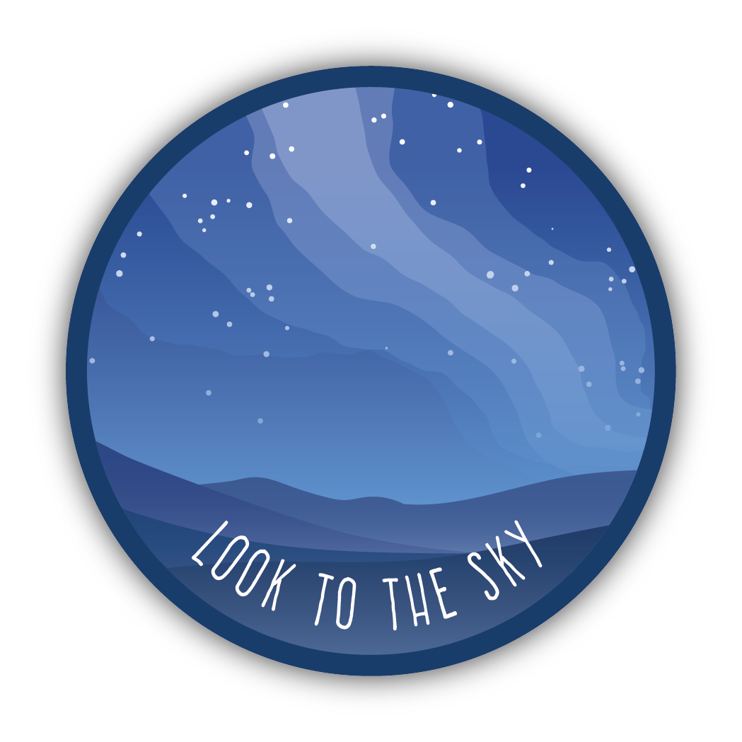 Look to the Sky Sticker