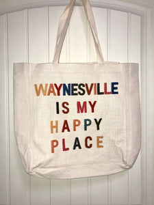 Waynesville is My Happy Place Canvas Tote Bag
