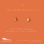Load image into Gallery viewer, You Are Balanced, Gold Triangle Earrings