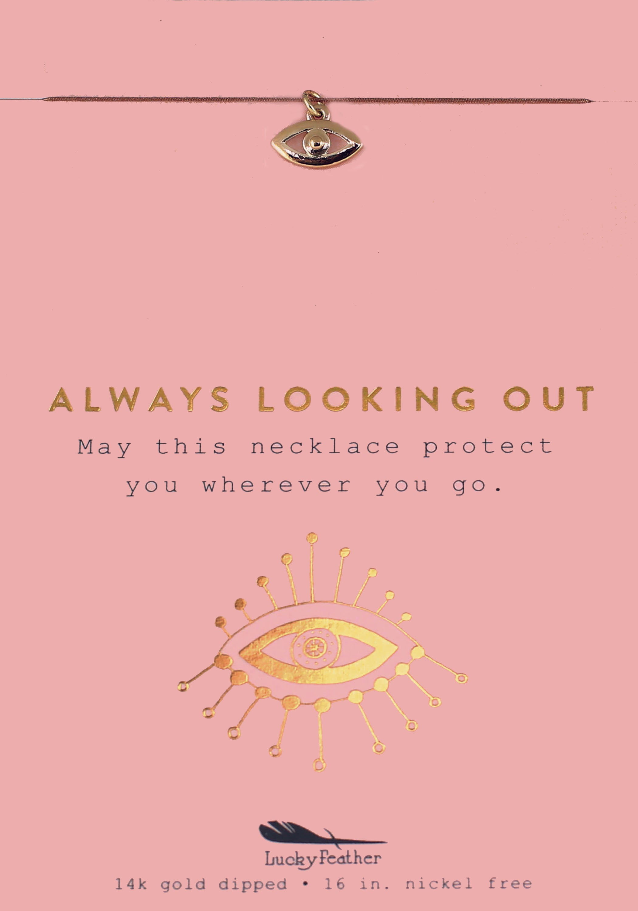 Always Looking Out, Gold Eye Necklace