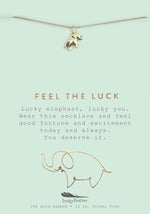 Load image into Gallery viewer, Feel the Luck, Gold Elephant Necklace