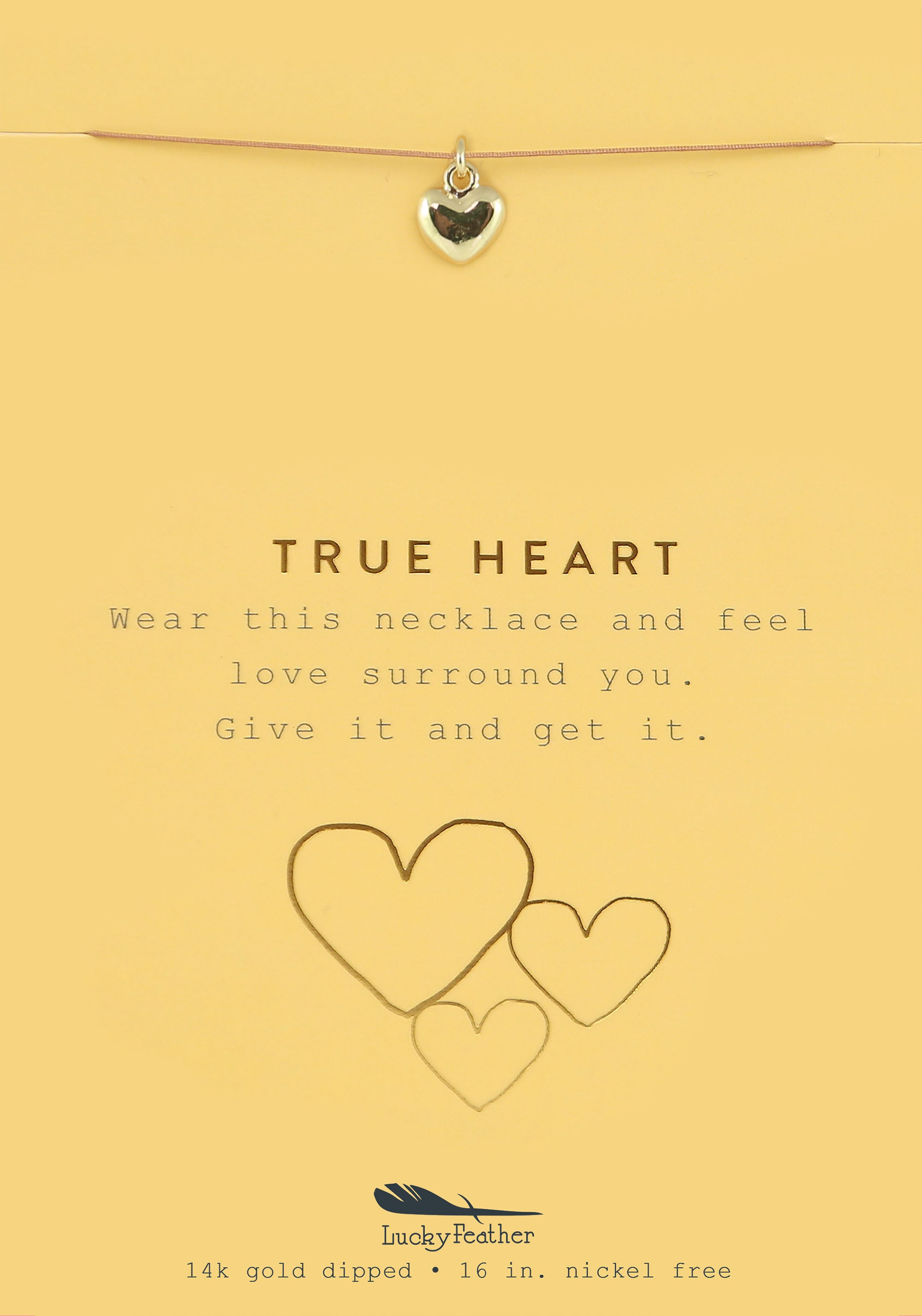 True Heart, Gold Heart Necklace