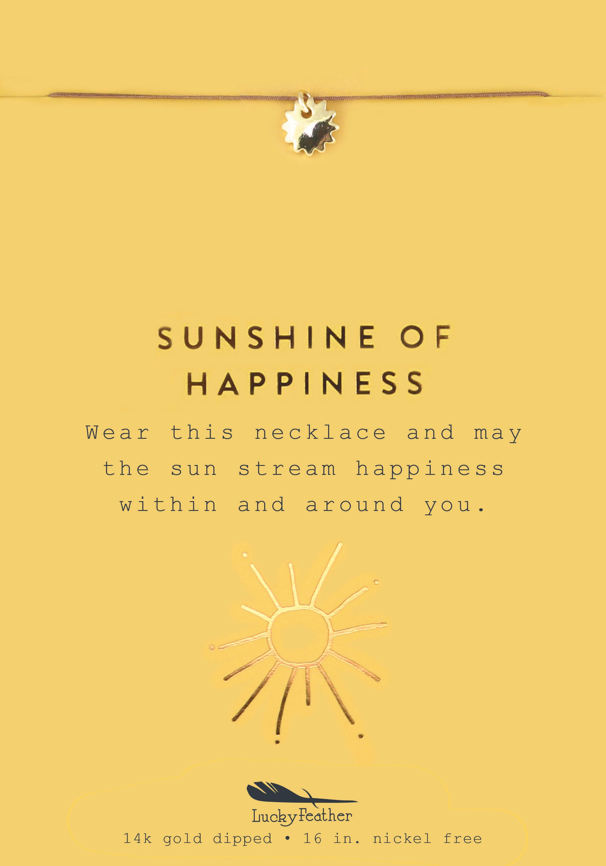 Sunshine of Happiness, Gold Sun Necklace