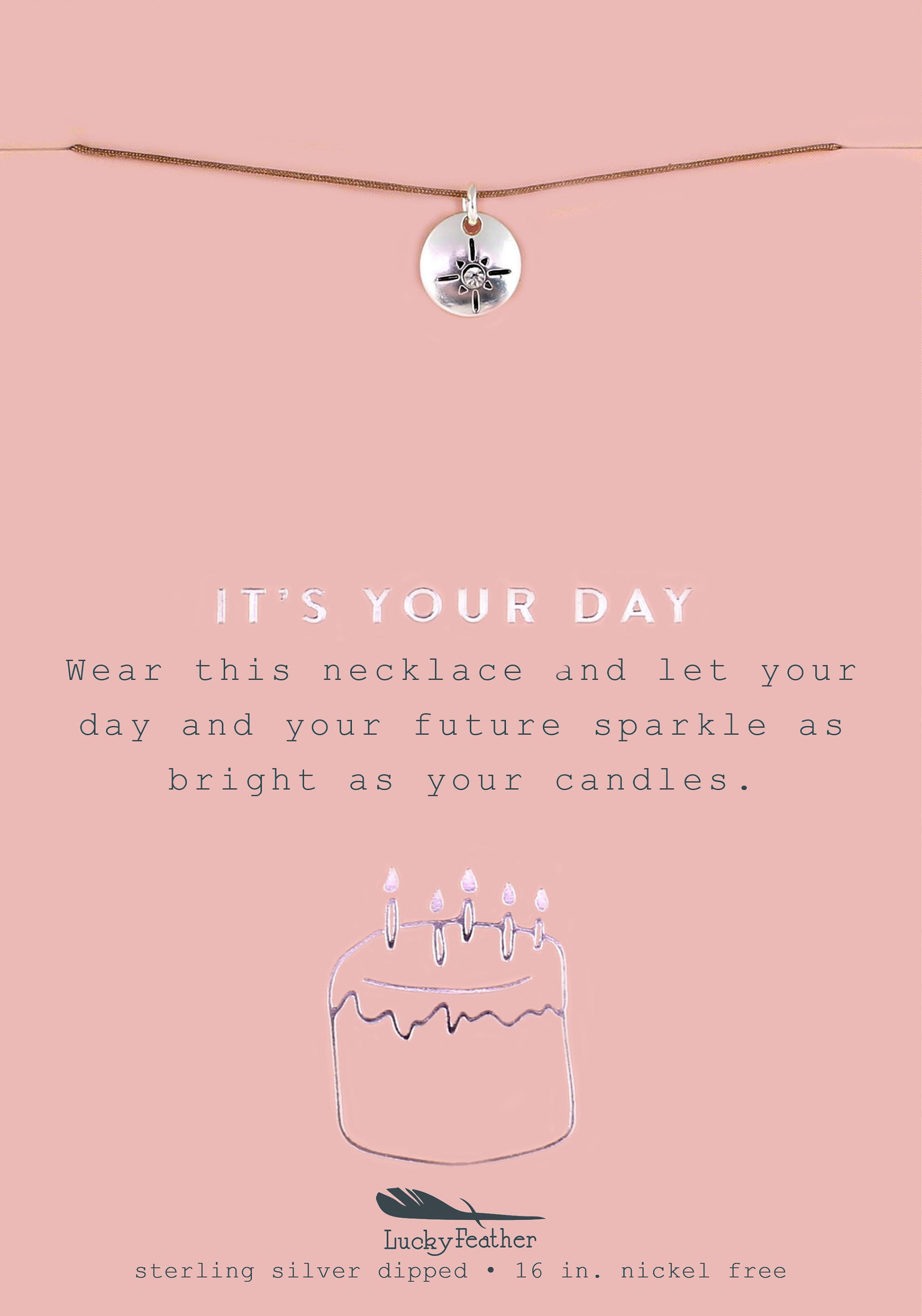 It's Your Day, Silver Starburst Necklace