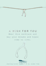Load image into Gallery viewer, A Wish for You, Silver Wishbone Necklace