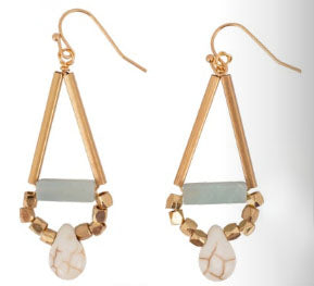 Gold Howlite Teardrop