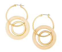 Cream and Gold Triple Hoop