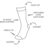 Load image into Gallery viewer, Patterned Crew Socks (multiple styles)