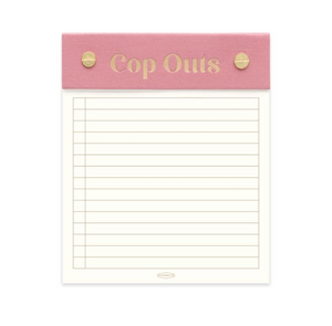 Post Bound Note Pad with Guilded Edge