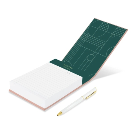 Leather Wrapped Hardcover Large Notepad