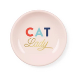 "Load image into Gallery viewer, ""Cat Lady"" Round Trinket Tray"