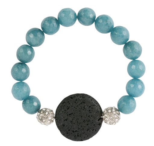 Turquoise with Round Lava Stone