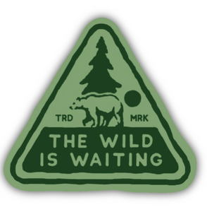 The Wild is Waiting Triangle Sticker